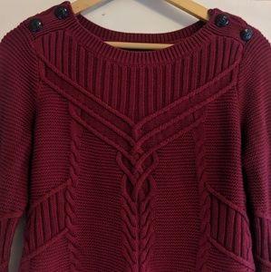 Banana Republic Nautical Sweater in Cranberry